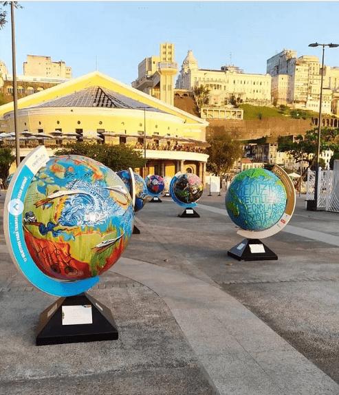 Exposição artística Globos Terrestres 17 ODS